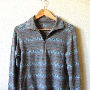 Woolrich Women's Medium Half Zip Sweater
